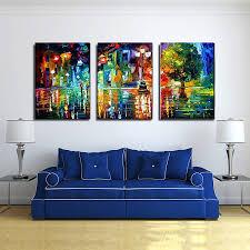 3 panels wall art canvas framed home decor painting prints modern