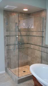 Shower Doors For Bath Bathroom Awesome Tiled Showers And Window Treatment And Glass