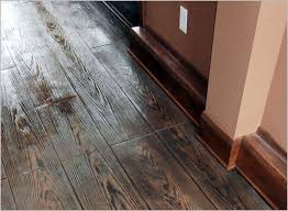 Hardwood Floor On Concrete Sted Concrete Can Simulate Real Hardwood Floors Concrete Craft