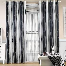 Black And White Stripe Curtains Black And White Stripe Curtains Home Designs Idea