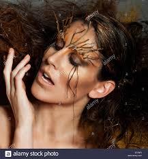Beauty Garde Autumn Avant Garde Hair And Make Up Stock Photo Royalty Free