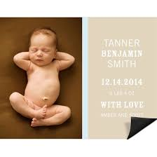 birth announcement birth announcement magnets custom designs from pear tree
