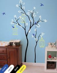 Whimsical Nursery Decor Whimsical Tree Wall Decal Birdcages Nursery Decor Mural Sticker