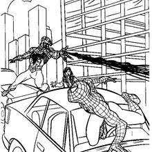spiderman saving mary jane coloring pages hellokids