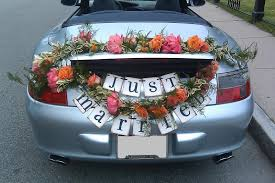 wedding ideas wedding decorations for a car easy wedding car