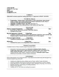 sample resume computer programmer u2013 topshoppingnetwork com
