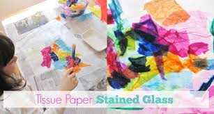 Kids Stained Glass Craft - tissue paper stained glass craft for kids simple and beautiful