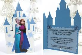 frozen birthday party invitations sisters crafting