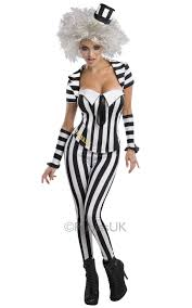 Halloween Costumes For Girls Size 14 16 Halloween Fancy Dress Ladies Miss Beetlejuice Suit Costume Large 14 16