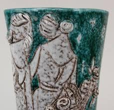 Italian Vase Mid Century Modern Italian Pottery Vase David M Mancuso Antiques