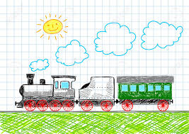 drawing of train royalty free cliparts vectors and stock