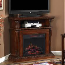 corinth infrared electric fireplace media console in vintage