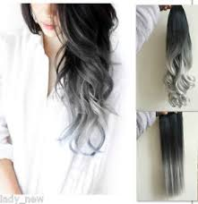 silver hair extensions 17 22 curly wavy clip in hair extensions ponytail