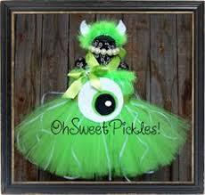 Green Tutu Halloween Costume Mike Wazowski Inspired Tutu Dress Birthday Halloween
