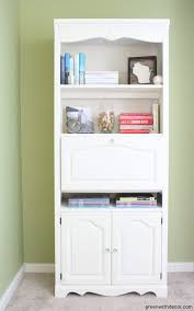 Annie Sloan Painted Bookcase How To Paint A Bookshelf Green With Decor How To Paint A Bookshelf