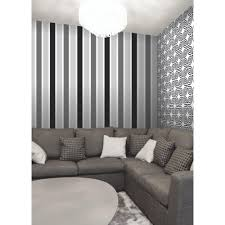 Black And White Striped Wallpaper by Fine Decor Magnum Stripe Wallpaper Black Silver White Fd40016