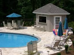 attached pool house plans house and home design