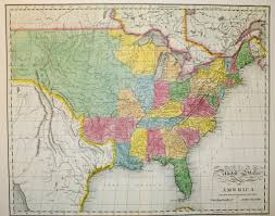 Map Of The United States In Color by North American Classic Collection
