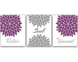 Lavender Bathroom Decor Bathroom Decor Bathroom Art Relax Soak Unwind Flower