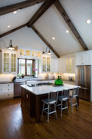 Ceiling Height Cabinets Armstrong Cabinets Kitchen Rustic With Dark Wood Ceiling Beams