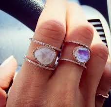 pretty stone rings images Jewels raw stone ring boho statement crystal quartz raw crystal jpg