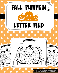 fall pumpkin alphabet letter find planning playtime