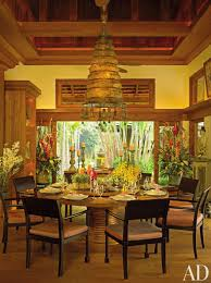 exotic dining room by bensley design studios in chiang mai