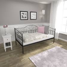 scene bedroom with wire frame bed with lights and materials 3d