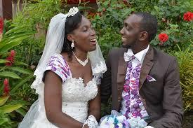 mariage africain inspiration mariage chic avec du pagne au gabon pagnifik