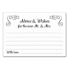 wedding well wishes cards marriage advice table cards place cards zazzle