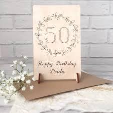 Birthday Card Holder Personalised 50th Birthday Wooden Card By Jayne Tapp Design