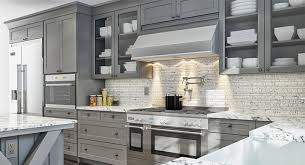 Grey Shaker Kitchen Cabinets Gray Painted Kitchen Cabinets