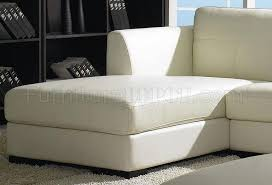 white leather modern low profile sectional sofa w ottoman