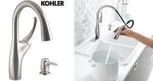 kohler coralais kitchen faucet kohler pull kitchen faucet or 1 2 3 12 kohler cruette pull
