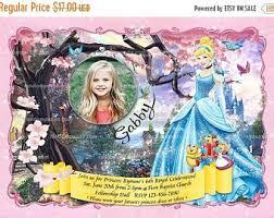 princess cinderella birthday invitation princess cinderella