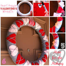 valentines day wreaths heart argyle s wreath tutorial mine for the