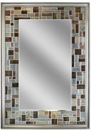 Hanging Bathroom Mirror by 34x24 Windsor Tile Frame Mirror Vanity 2 Way Wall Hanging Bathroom