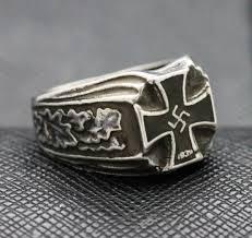 rings ss german iron cross swastika silver antiq24 com