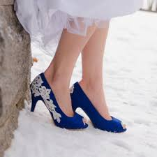 Wedding Shoes Blue Wedding Shoes Royal Blue Wedding Heels From Walkinonair On