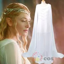 Hobbit Halloween Costume Aliexpress Buy Halloween Cosplay Lord Rings Galadriel