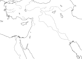 Middle East Outline Map by Eworkbook Genesis Maps