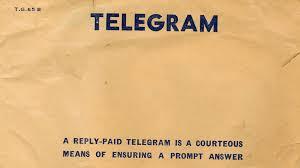 how do you send a telegram india to send last telegram in july