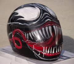 kbc motocross helmets venom custom airbrush painted motorcycle helmet venom helmets