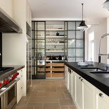 kitchen pantry design expansive kitchen pantry with industrial style glass doors home
