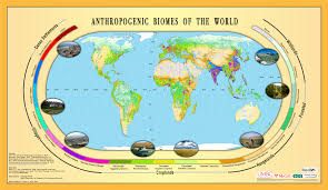 World Map North America by Maps Anthropogenic Biomes Sedac Maps Population Landscape And