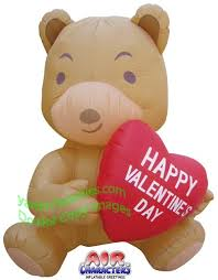 valentines day bears valentines day teddy air blown inflatbale y305 jpg