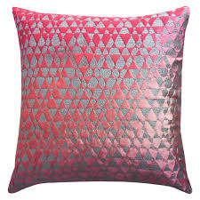 Punch Home Design Studio O U0027brien Studio Metallic Triangles Velvet Decorative Pillow