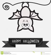 halloween white background cute bat and black ribbon contour outline animal white