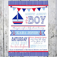 nautical theme baby shower invitations theruntime com