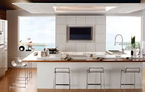 kitchen tv ideas gorgeous white modern kitchen shade offer wall mount lcd tv